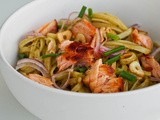 Salmon Pasta with Pesto