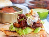 Sardine Toast with Avocado, Tomato Relish and Garlic Chips {gf, df}