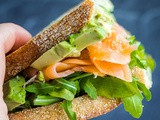 Smoked Salmon Sandwich with Avocado & Pesto {Gluten-Free, Dairy-Free}