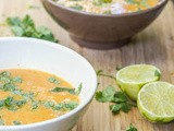 Thai Red Lentil Soup {Gluten-Free, Vegan}