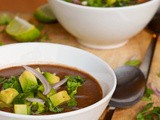 Vegan Black Bean Soup {Gluten-Free}