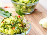 Vegan Cucumber Avocado Salad {Gluten-Free}