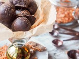 Vegan Hazelnut Truffles with Coconut and Figs {gf}