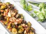 Vegan Pesto Roasted Brussels Sprouts {gf}
