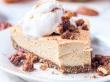 Vegan Pumpkin Cheesecake with Candied Pecans {gf}