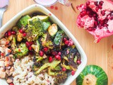 Vegan Wild Rice Green Bowls with Pomegranate Sauce {gf}