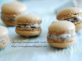 Chocolate Macarons with Azuki Cream Cheese