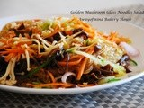 Golden Mushroom Glass Noodles Salad 凉拌冬粉金针菇