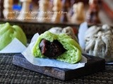 Green Tea Bao and Black Sesame Bao