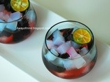 Nata De Coco Grass Jelly with Rose Syrup and Lime