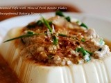 Steamed Tofu with Minced Pork Bonito Flakes