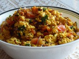 Paneer Podimas with Eggs