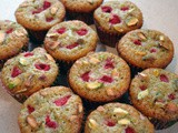 Pistachio and Raspberry Muffins