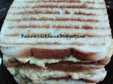 Grilled vegetable mayonnaise sandwich