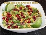 Sweet  sprout and mix fruit salad