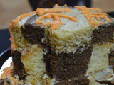 Checkerboard Cake Without any Fancy Pan | Sweet to share a Happy News | Celebration Cake