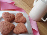 Heart Beet Cookies | Beetroot Cookies | Valetine Day's special | Eggless & Butterless