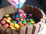 M&m or Gems Gravity Cake Tutorial | Step by Step Pictures| How to make a simple gravity cake
