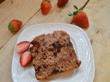 Strawberry Choc chip Loaf | Eggless strawberry choco bread