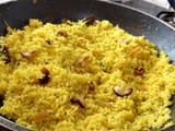 Basanti Pulao - Bengali sweet yellow fried rice