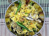 Bengali Murighnto - a pulao like side dish with fish head and rice