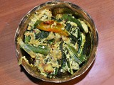 Bhindi Posto - Okra / Lady Finger cooked in poppy seeds paste
