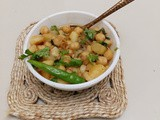 Chickpeas curry with potatoes - a healthy side dish