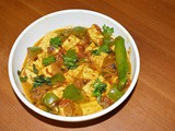 Kadai Paneer - a spicy Indian curry of cottage cheese