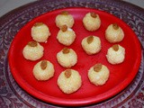 Narkel Naru or coconut laddoo - Traditional Bengali sweet with coconut and jaggery