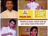 Chicken Ham and Peppy Tomato Oats Muffins and a meet-up with Chef  Vikas Khanna