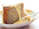 Irish Apple Cake with Vanilla Custard Sauce