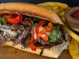Leftover Prime Rib Philly Cheesesteak Sandwich