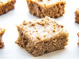 Old Fashioned Irish Oatmeal Cake with Caramel Pecan Frosting