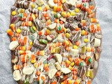 Halloween Candy Explosion Chocolate Bark