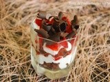 Brownie and Strawberry Mascarpone Whip Parfait