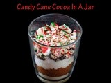 Candy Cane Cocoa In a Jar