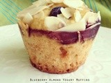 #MuffinMonday: Blueberry Almond Yogurt Muffins