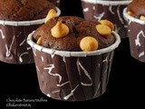 #MuffinMonday: Chocolate Banana Muffins with Peanut Butter Chips