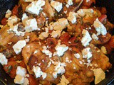 Chicken Thighs with Tomatoes and Feta