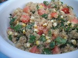 Quinoa with Roasted Corn and Cilantro