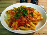 Penne al Tonno (pasta with tuna and tomato sauce)