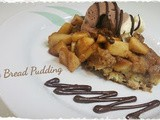 Apple Bread Pudding with Ice Cream