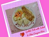 Grilled Fish with Salad & Olive Oregano Rice