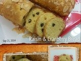 Raisin & Cranberry Bread