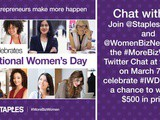 Passion and Purpose ~ #MoreBizWomen Twitter Chat with @StaplesCanada