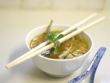 Asian lamb rib noodle soup