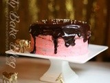 Pink and Chocolate cake