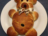 Teddy Bear (chocolate stuffed) Bread