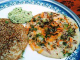 Brown Bread Oothappam / Bread Veg dosa