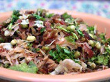 Cabbage & Beetroot Stir Fry with Greengram Sprouts